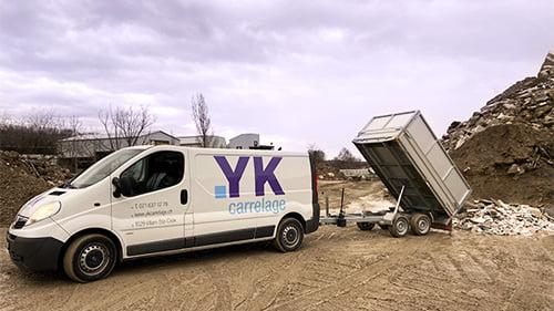 Partenaire camion centre de tri carrelage et beton