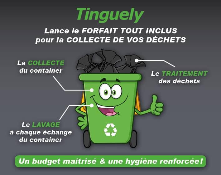 schéma explicatif d'un forfait pour la collecte des déchets au service de l'environnement