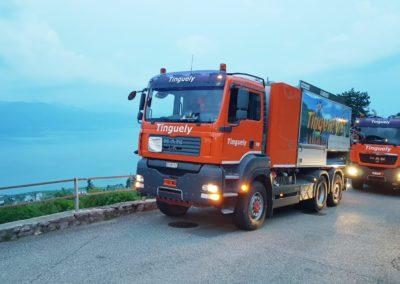 Camion Curage sur les routes suisse canton de Vaud